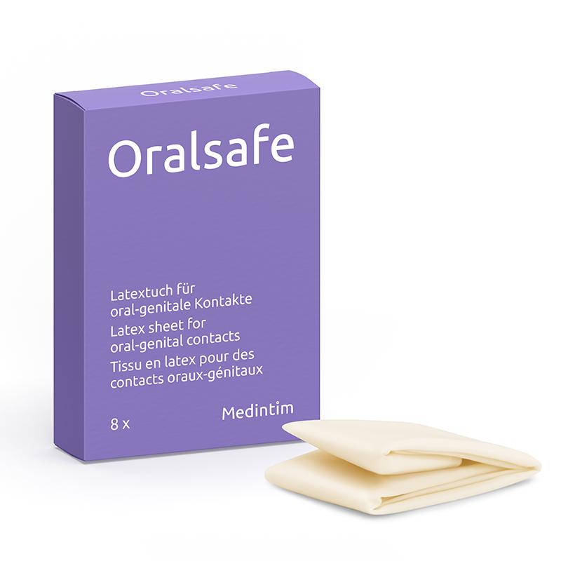 Boite Oralsafe digue dentaire en latex cunnilingus
