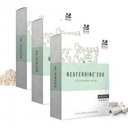 Lot de 3 boites de Neoferrine complément alimentaire a base de lactoferrine