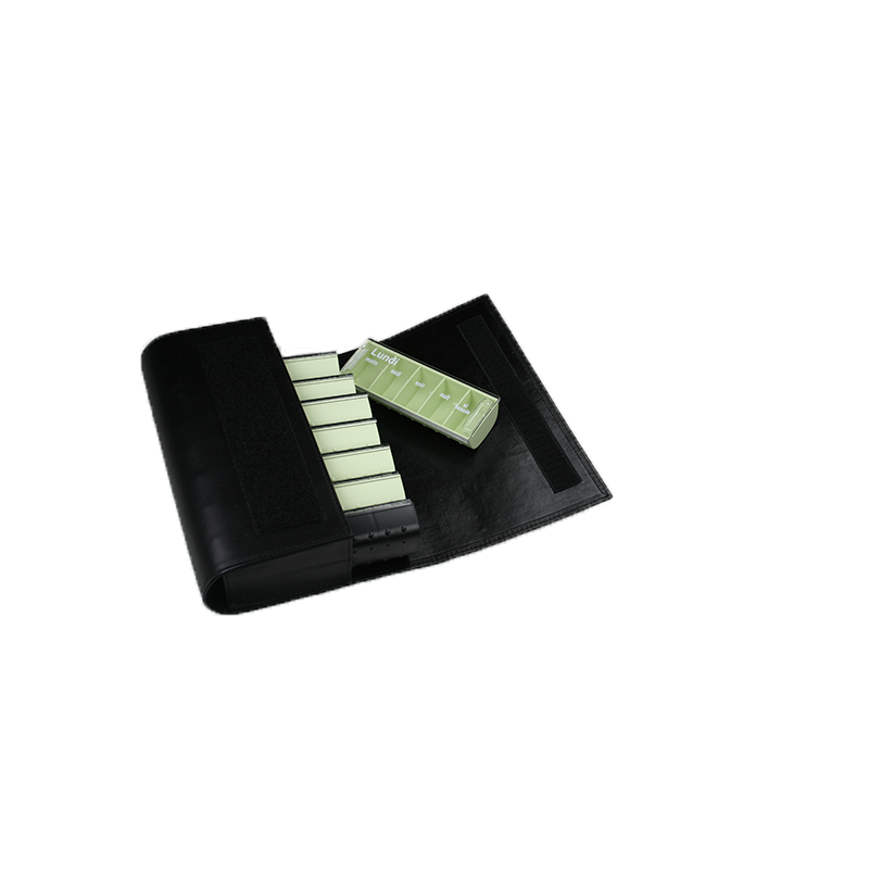Pilulier hebdomadaire Anabox de Luxe vert tilleul