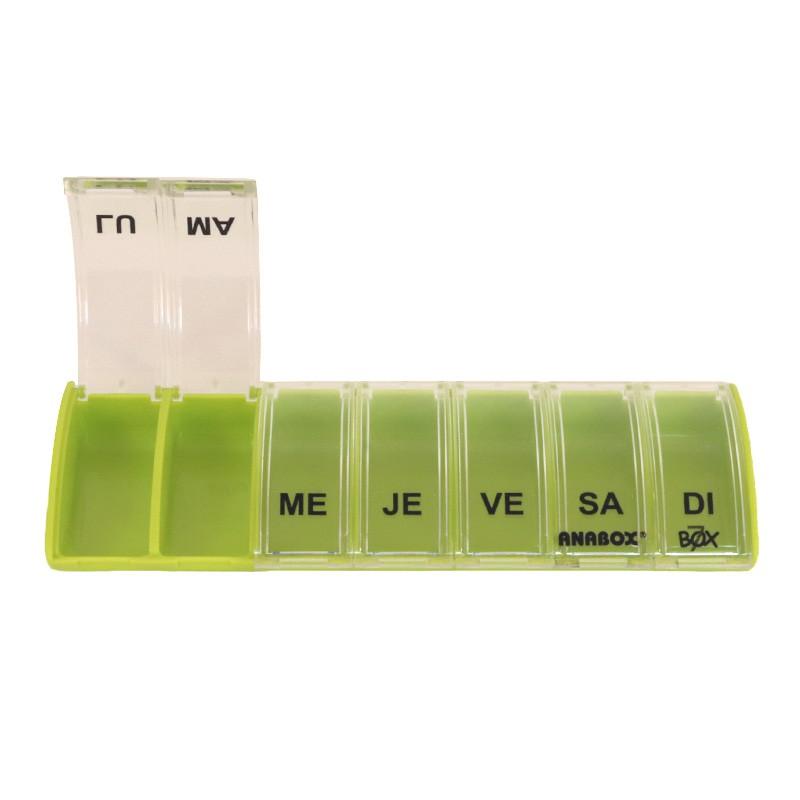 Pilulier 7 cases Box7 Vert Pastel