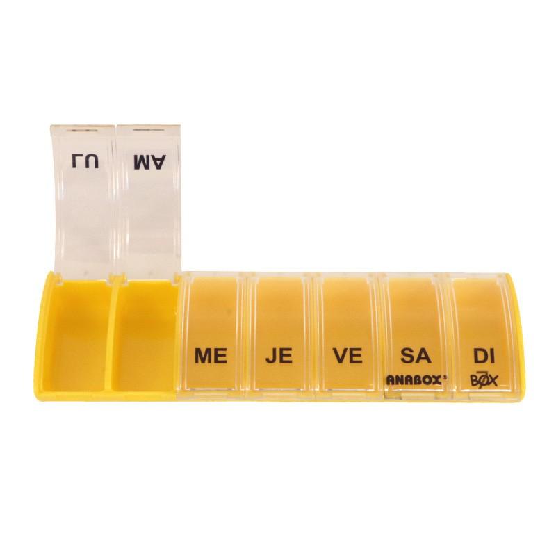 Pilulier 7 cases Box7 Jaune Pastel