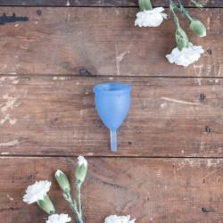 Coupe menstruelle lunacopine taille 1 bleue