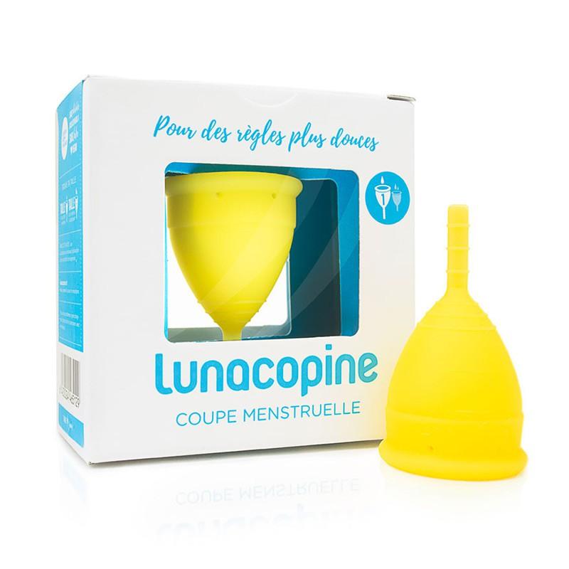 Coupe menstruelle Lunacopine jaune boîte taille 1
