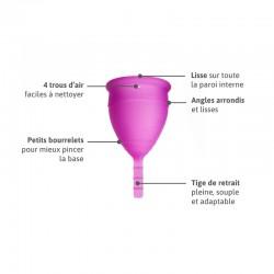 Lunacopine violette taille 1 et sa composition