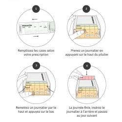 Pilulier Anabox hebdomadaire bleu guide d'utilisation