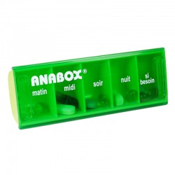 Pilulier journalier vert anis