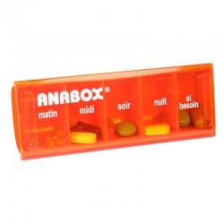 Pilulier journalier Anabox orange