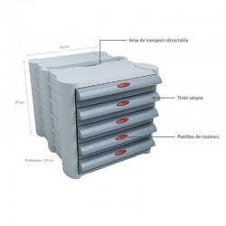 Descriptif pilulier 4S Anabox 5 tiroirs