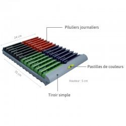 description du tiroir simple du pilulier grande capacité